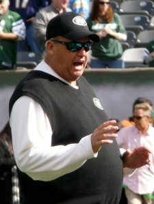 Head Coach Rex Ryan New York Jets Fans love Rex Ryan and the Jets. They spend a ton of money each season to support their team win or lose. Photo Courtesy of WikiCommons.